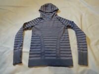 Girls IVIVVA by Lululemon Shirt, size 10, Hooded Fly Tech Long Sleeve, Purple