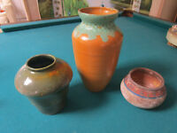 Vintage Mountainside Pottery MP USA  VASES -ORANGE - GREEN - AGED - PICK ONE