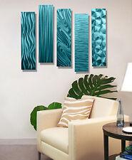 Metal Wall Art Modern Abstract Aqua Accent Decor Hanging Sculpture Jon Allen
