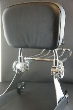 Detachable Backrest Sissy Bar Luggage Rack Harley Davidson Dyna 02-05 WISDOM