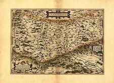 Riproduzione Abraham Ortelius Transilvania Romania Vecchio Mappa Antica