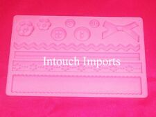 New Button Lace Bow Ribbon Border Silicone Mould For Sugarcraft Cake Decorating