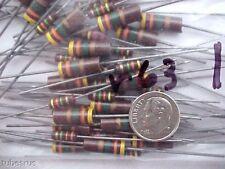4.3 Meg Million Ohm 1 Watt 5% Qty-2 Tube Amplifier Allen Bradley Carbon Resistor