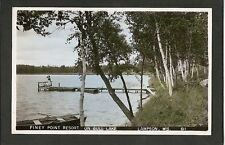 Lampson Wisconsin WI 40s RPPC Piney Point Gull Lake Res