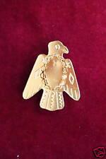 Bolo Slide Gold color Plated  Eagle Left 13 x 18mm mount (pkg 12)  0235