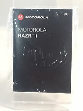 Brand New Original Motorola Razor i French Phone Manual Guide