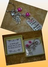 Love Between A Mother And Daughter Is Forever Keepsake charm Hearts Gift Boxed