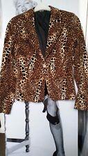 WOMEN NADINE JACKET/COATS velour leopard print 100% COTTON  SLIM FIT  ITALY S-M