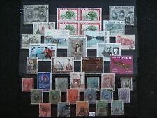 W 18) verschiedene Peru Briefmarken gestempelt