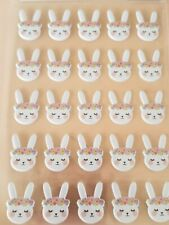 Spring Bunnies Bunny Rabbit Floral Puffy Stickers 3D Scrapbook Planner Crafts