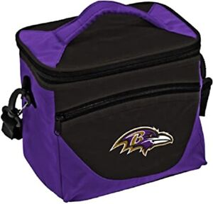 Baltimore Ravens Halftime Cooler Zipper Insulated Lunch Bag Box Tote 9pk NFL
