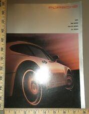 1993 Porsche Brochure 911 928 968