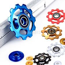 2X 11T Ultralight Aluminum MTB Bike Bearing Jockey Wheel Rear Derailleur Pulleys