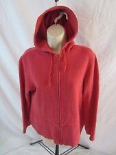Orvis Knit Zip Front  Hoodie Jacket - Salmon Pink - Women's Small - 0694