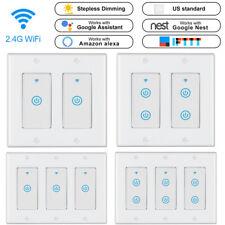 Luz inteligente Wi-Fi Interruptor De Pared Panel Táctil US 1/2 Gang aplicación para Alexa Google IFTTT