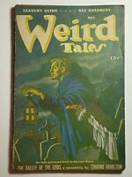 Weird Tales May 1946 Ronald Clyne Cover Robert Bloch Ray Bradbury Pulp Magazine