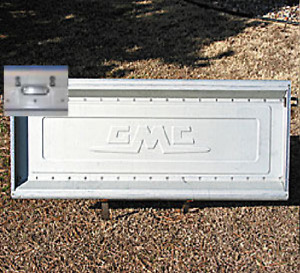 Tailgate GMC Script 1963 - 1987 Push Button Stainless GMC Chevy Stepside Truck