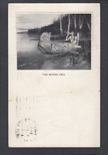 USA 1914 THE MOOSE CALL NATIVE AMERICAN POSTCARD FORT WAYNE INDIANA