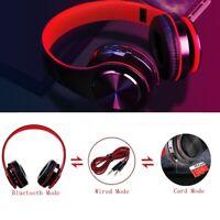 Bluetooth Headset Foldable Earphones Super Bass Stereo Over Ear Headphones CA K