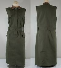 ELOQUII Belted Embroidered Collar Dress Size 16 Womens Military Inspired Shift