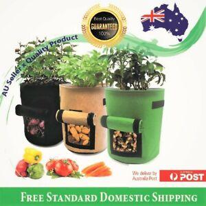 2, 3 PK Fabric Potato Grow Bags Container Pot Garden 3 |7 |10 Gallon Breathable