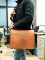 USA Men Business Leather Handbag Briefcase Shoulder Messenger Laptop Satchel Bag
