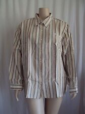 New Striped Career Long Sleeve Neutral Button Front Shirt  26W