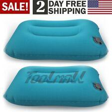 US 2pcs Ultralight Inflatable Air Pillow Cushion Travel Hiking Camping Rest Kit