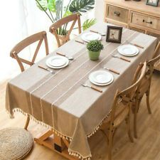 Nordic Style Cotton Linen Embroidered Tablecloth Cover Dinner Table Decor SK