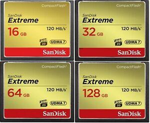 SanDisk Extreme 16GB 32GB 64GB 128GB CompactFlash Memory Card 120mb/s CF UDMA7