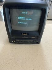 "Symphonic SC3909 9"" Color TV CRT VHS VCR Combo NO REMOTE Retro Gaming Free Ship"
