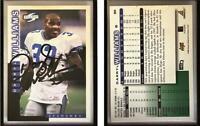 Darryl Williams Signed 1998 Score #89 Card Seattle Seahawks Auto Autograph