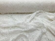 Off white Vintage Corded French Lace Embroider On A Mesh-bridal-sold by the yard