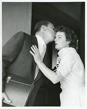 MERCEDES MCCAMBRIDGE HUSBAND KISSES WIRE SERVICE ORIGINAL 1957 ABC TV PHOTO