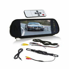 "7"" LCD Screen Car Rear View Backup Mirror Monitor+Wired Reverse IR Camera Kit AL"