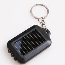 Mini Portable 3LED Energie Solaire Lampe Poche Torche Lumière Porte-clés Voyage