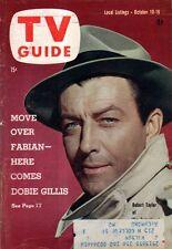 1959 TV Guide October 10 Here Comes Dobie Gillis; Robert Taylor; Bette Davis