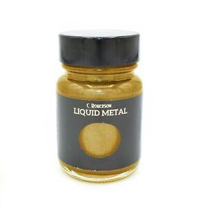 CLASSIC GOLD LIQUID METAL METALLIC PAINT 30ml WOOD PAINTING LEAF GILDING CR78121