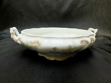 Antique Hanley J & G Meakin Oval Serving Bowl Blue Flowers w/ Gold Accent Spray