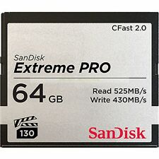 SanDisk CF64GB Extreme Pro CFast 2.0525MB/s Read Compact FlashCard New ct