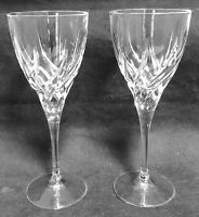 "Royal Crystal Rock TRIX 2 Wine Goblets 8 1/4"" EXCELLENT"