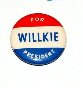 1940 WENDELL WILLKIE campaign pinback pin button political presidential election