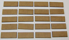 2mm MDF bases 40mm x 15mm pack of 20 for DBMM, FOG or DBA