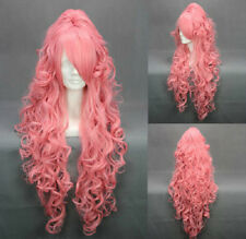Fashion Long Party Women Girl Cosplay Wig Vocaloid Luka Pink Hair Curly Wig RT22