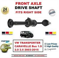 Pour VW Transporter Caravelle Bus 1.9 2.0 2.5 2003-2015 1x avant Droit Arbre