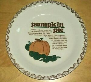 Pumpkin Pie Dish Plate   MC Pottery   Freezer to oven   Ceramic   Japan