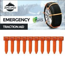 ZipClipGo Emergency Traction Aid  Ice Snow Chains a Life Saver for Car Trucks