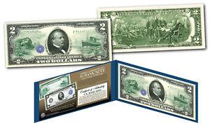 1914 Series $20 Grover Cleveland FRN designed on modern Genuine $2 U.S. Bill