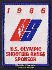 LMH PATCH Badge 1986 OLYMPIC Games Olympics US USA SHOOTING TEAM  Range Sponsor