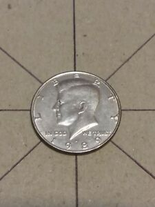 1989 D Kennedy Half Dollar Rotated Die